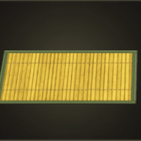 Light bamboo rug