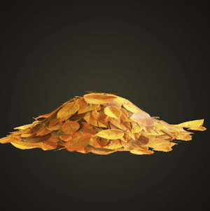 Yellow-leaf pile