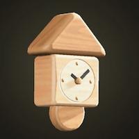 Wooden-block wall clock