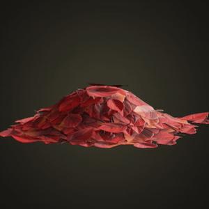 Red-leaf pile
