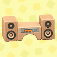 Wooden-block stereo