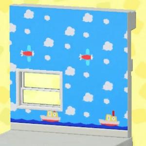 Blue playroom wall