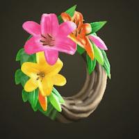 Fancy lily wreath