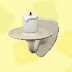 Wall-mounted candle