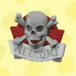 Skull doorplate