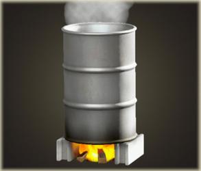 Oil barrel bath