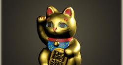 Golden beckoning cat