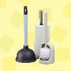 Toilet-cleaning set