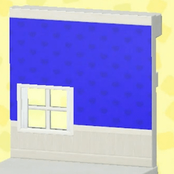 Cute blue wall