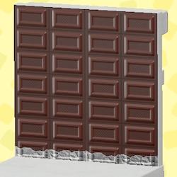 Dark-chocolate wall