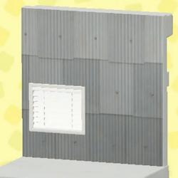 Gray shanty wall