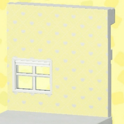 Yellow heart-pattern wall