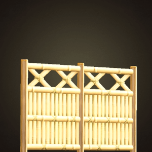Bamboo lattice fence