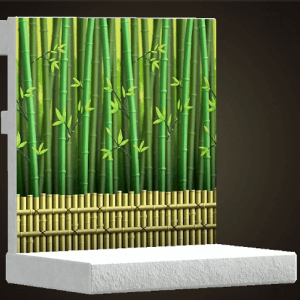 Bamboo-grove wall