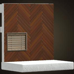 Mur de chevrons au chocolat
