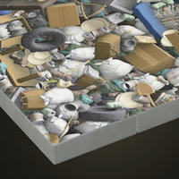 Garbage-heap flooring