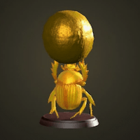 Golden dung beetle