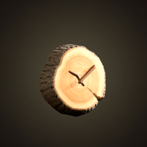 Log wall-mounted clock