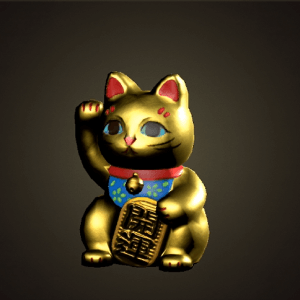Lucky gold cat