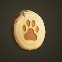 Paw-print doorplate