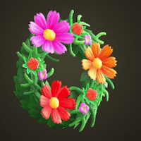 Pretty cosmos wreath