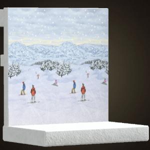 Mur de piste de ski