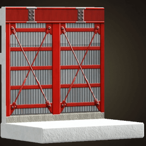 Steel-frame wall