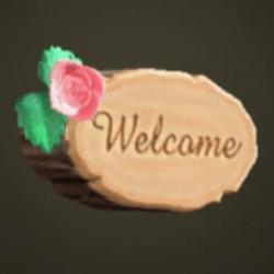 Plaque de porte en bois