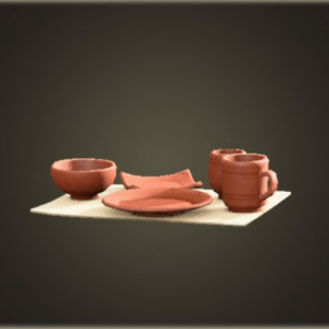 Unglazed dish set