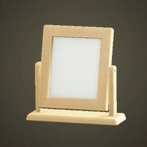 Wooden table mirror