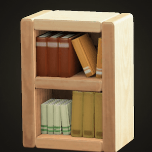 Wooden-block bookshelf