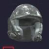 Scratched Visored Helmet