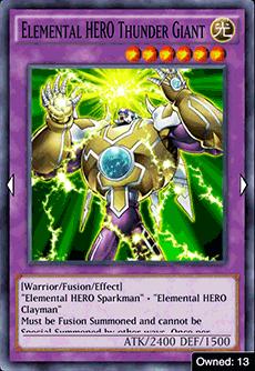 Elemental HERO Thunder Giant - YuGiOh! Duel Links