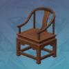 Pine-Backed Tea Chair