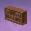 Two-Tier Library Bookshelf