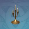Golden Triple-Arm Candelabrum