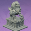 Stone Lion Statue: The Knowing