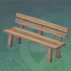Smooth Wooden Bench