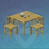 Bamboo Outdoor Tea Table