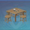 Wooden Outdoor Tea Table