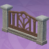 Carved Courtyard Fence Ending