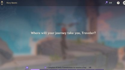 Story Quest Screen