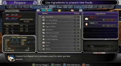 Choose Available Recipe & Quantity