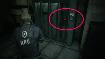 Resident Evil 2 Demo Safety Deposit Room Weapons Locker