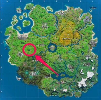 Flopper Pond Location Map