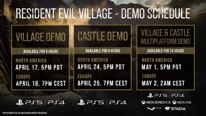 All PlayStation Demo Schedule