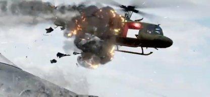 launchers destroying a chopper