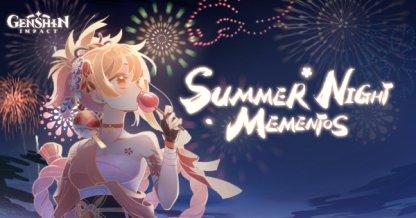 Summer Night Mementos Web Event From 8/5