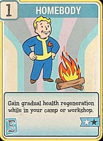 Fallout 76 Perk Card Endurance Homebody