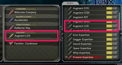 Augment LCK Passive Skill & Skill Shard Are Required